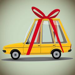 cartoon gift car