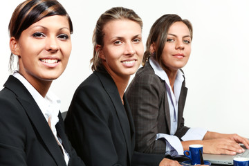 portrait of a team of three young business women