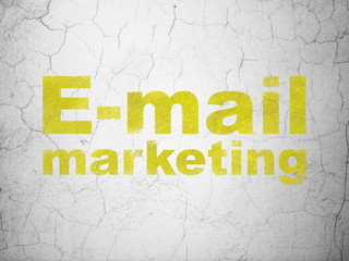 Marketing concept: E-mail Marketing on wall background