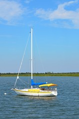 Moored Sailboat