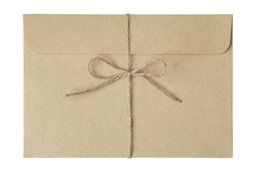 Envelope tied with string