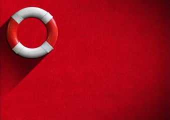 Help Concept - Red and White Lifebuoy