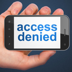 Safety concept: Access Denied on smartphone