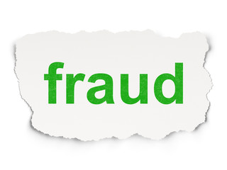Safety concept: Fraud on Paper background