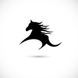 Horse symbol, vector illustration