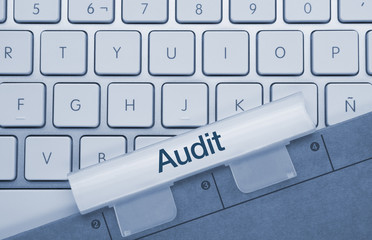 Audit. Keyboard. Folder