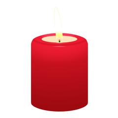 Kerze, rot, Flamme