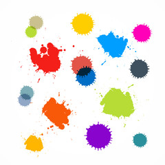 Abstract Colorful Blots, Stains, Splashes