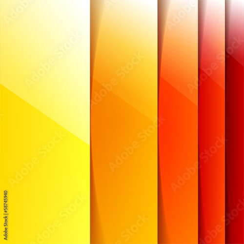 Abstract yelow and orange shining rectangle shapes