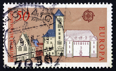 Postage stamp Germany 1978 Old City Hall, Regensburg