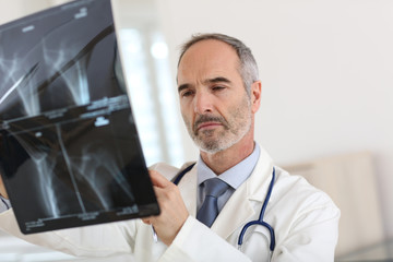 Specialist looking at X-ray results