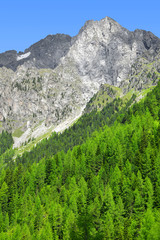 Riesenfernergruppe mountain range, in South Tyrol, Italy