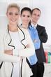 Teamarbeit: Portrait Mitarbeiter einer Firma