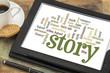 Obrazy na płótnie, fototapety, zdjęcia, fotoobrazy drukowane : story and storytelling word clouds