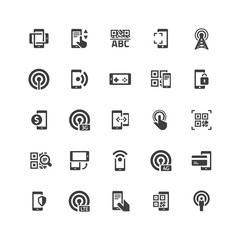 Mobile Comminication Icons Set