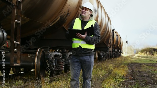 Railroad employee near the tank wagons episode 1