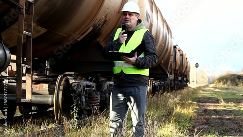 Railroad employee near the tank wagons episode 2
