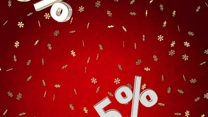 XMAS sale loop with discounts and moving background for your tex