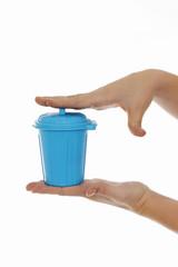mini-poubelle réduction des déchets