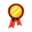 Vector award badges - gold award rosette