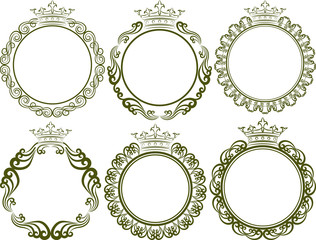 royal frames with crown