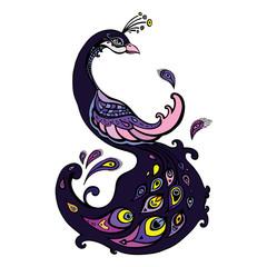 Peacock. Decorative Vector illustration.