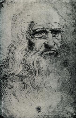Leonardo da Vinci, Italian Renaissance polymath Poster