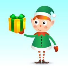 Elf with giftbox