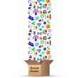 social media icons box