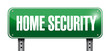 home security road sign illustration