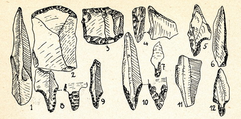 Swiderian culture flint implements (Poland)