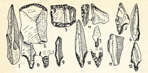 Swiderian culture flint implements (Poland)