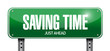 saving time road sign illustration design