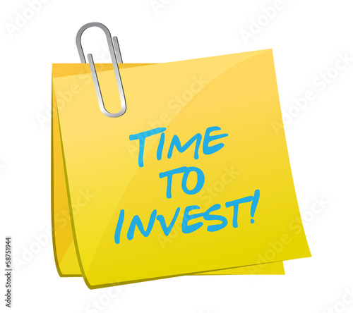 time to invest post illustration design