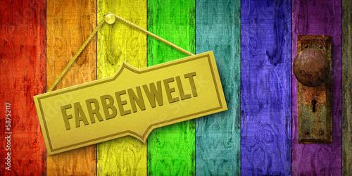 canvas print picture Farbenwelt