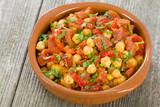 Garbanzos y Chorizo - Chickpeas and spicy sausage tapas