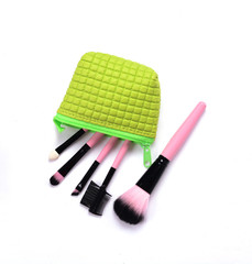 Cosmetics  in green bag