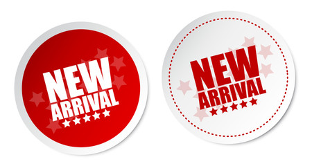 New arrival stickers