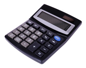 Digital calculator isolated on white