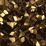Fototapety Abstract golden high tech geometric 3d background