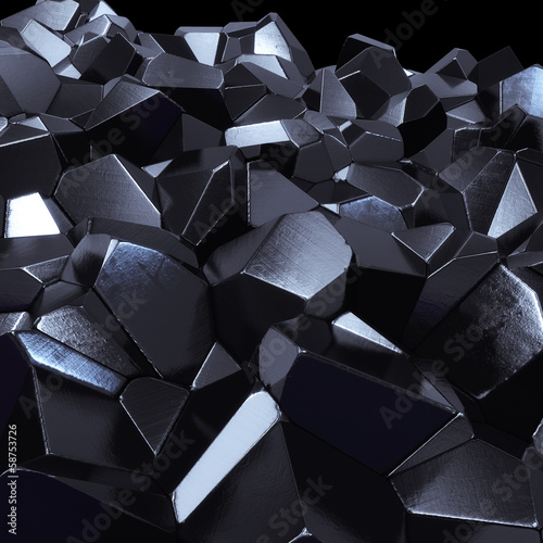 In de dag 3d Achtergrond Abstract hitech geometric 3d background - computer generated