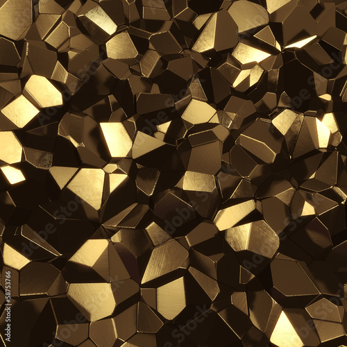 Fotobehang 3d Achtergrond Abstract golden high tech geometric 3d background