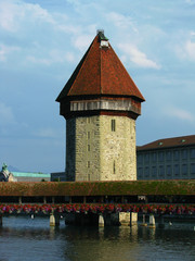 Chapel bridge and the Water Tower, Lucerne, Switzerland