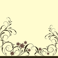 Abstract floral vintage background with copy space