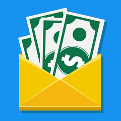 Vector Cash in Envelope Icon