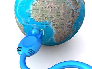 Communication World - concept