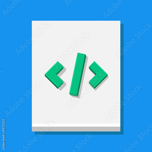 Vector Code Sheet Icon