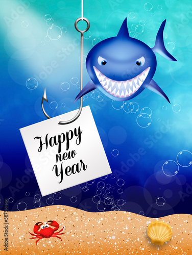 Shark celebrate the New Year