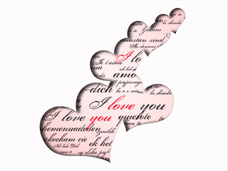Happy Valentine's DayGreeting Card on white background