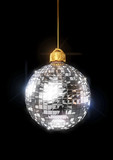 Christmas disco ornament